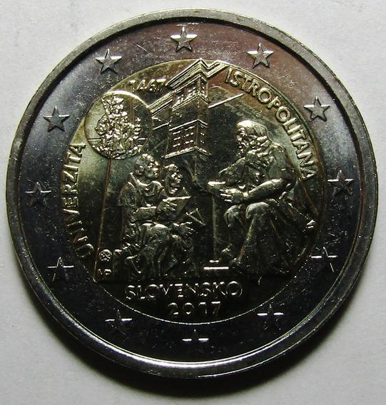 Eslovaquia Moneda 2 Euros 2017 Universidad Istropolitana