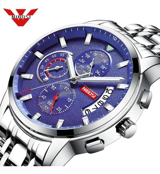 Relógio Nibosi Modelo 2358 Prata