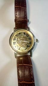Relógio Saat Xiniu Skeleton Mecanico Clássico