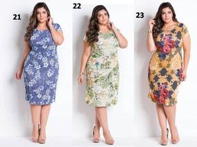 Conjunto 3 Vestidos Evangélico Plus Size Até 54 Frete Gratis
