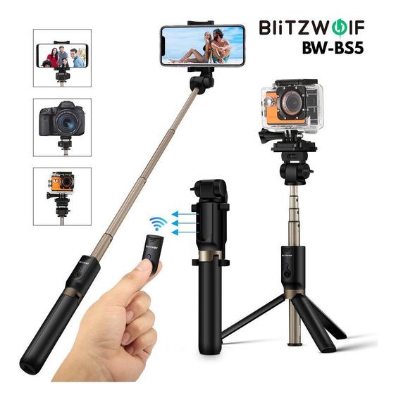 Bastão De Selfie+tripe Blitzwolf Bs5 P/ Celular & Action Cam