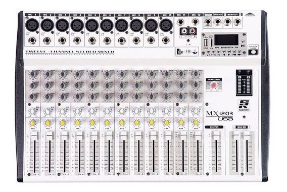 Mesa De Som Mixer Staner Mx 1203 Usb - Nf Bt Phantom!