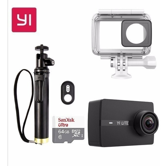 Camera Xiaomi Yi Lite 4k 16mp + Acessórios - Promoção