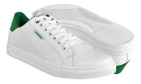 Tenis Casual De Hombre Capa De Ozono 60009302-3 Blanco Verde