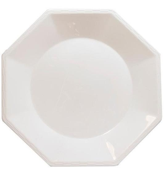 Platos Chicos De Plástico Duro Octogonales 17cm X10