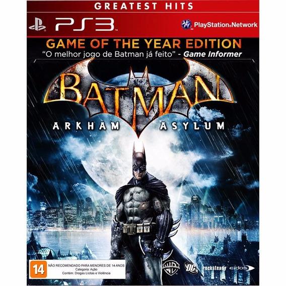 Batman Arkham Asylum Goty Seminovo! Loja Física! Sem Juros!