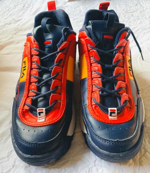 Zapatillas Filas Originales Tricolor Talle 8 Solo Por Hoy!