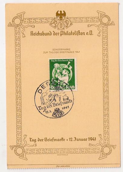 Alemania 3° Reich Tarjeta Matasello Dessau Año 1941