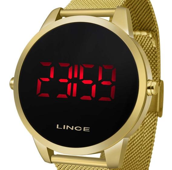 Relógio Feminino Lince Digital Dourado Mdg4586l Pxkx C/ Nfe