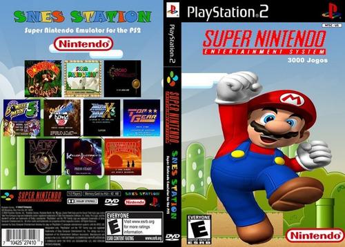 Emulador Super Nintendo Com 3000 Jogos Para Play Station 2