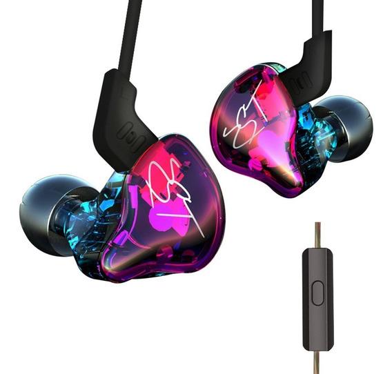 Kz Zst Pro 3.5mm Wired In Ear Fones De Ouvido Com Microfone