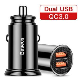 Carregador Veicular Baseus Compacto Qc3.0 30w 5a Max