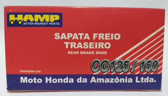 Sapata Lona Freio Titan/fan/bros/biz 125/150/160 Cb300 Honda
