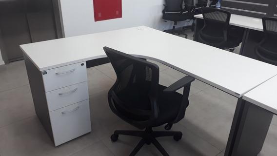 Mesa Em L Escritório Direito Tampo 40mm | 1.60x 1.40