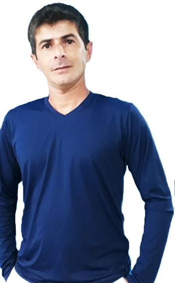 Camisa Proteção Solar Uv 50 Adulto Grappin Gola V