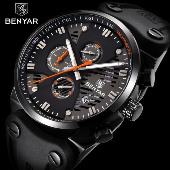 Relógio Benyar Johnnie Walker Preto 100% Original