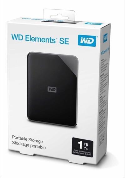 Hd 1 Tb Externo Wd Elements Se Usb 3.0 Garantia 2 Anos