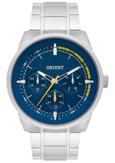 Relógio Orient Masculino Mbssm079 D1sx Mostrador Azul