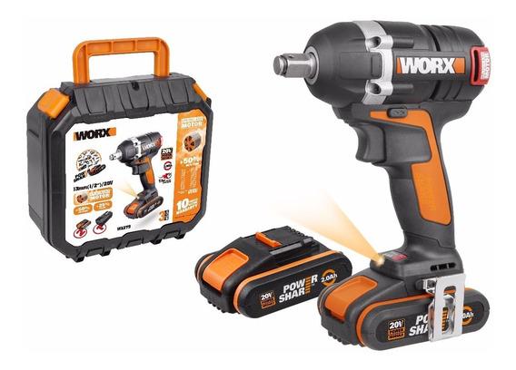 Atornillador De Impacto 20v Worx Wx279 2 Baterías Y Cargador