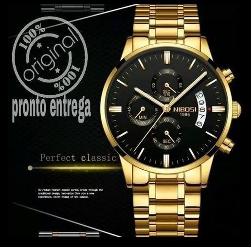 Relógio Nibosi Dourado Original