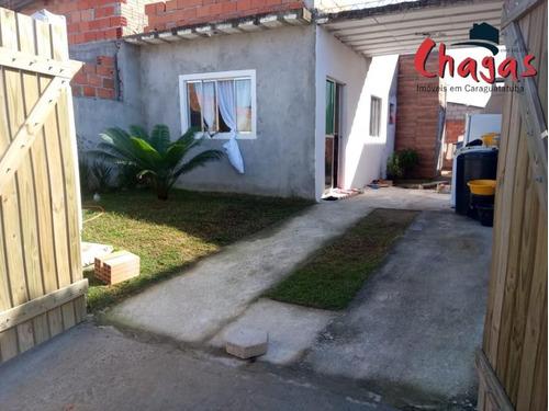 Casa Em Caraguatatuba Com 02 Dormitórios No Bairro Golfinhos - 1474