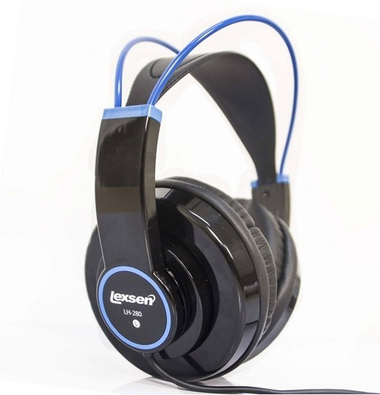 Fone De Ouvido Lexsen Estilo Headphone Akg K240 Azul