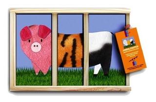 Rompecabezas Animaloquitos Puzzle Caja Madera Original Clap