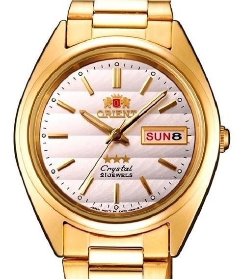 Relógio Orient Automático Masculino Folhado Fab0000bw9