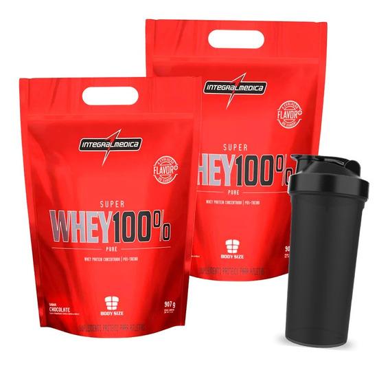 Combo 2x Whey 100% Pure - 907g - Integral Medica