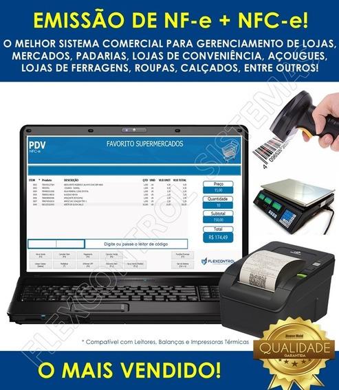 Sistema Flexcontrol Pdv Nfe Mercados Padarias Lojas Comercial Mercadinhos Roupas Calçados Estoque