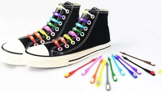 84 Cordones Elásticos Zapatilla Silicona Colores- Eshopviña