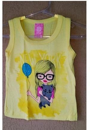 Roupas Para Bebe Menina Blusa Regata Regatinha Camiseta