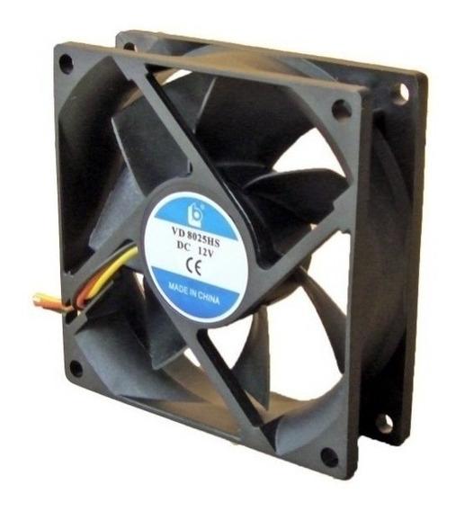 Cooler 80 X 80 Turbina Negra 8cm Pc