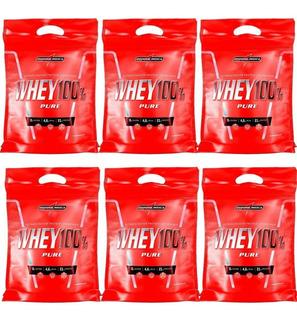 Combo 6x Whey 100% Pure 907g Refil - Integral Medica
