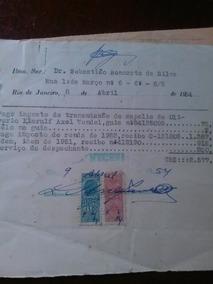 Recibo Selado - Espólio - Testamento - 1954