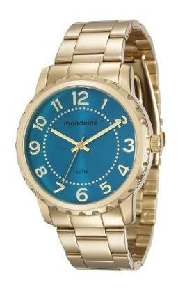 Relógio Mondaine Feminino Banhado A Ouro Original 76653lpmvd