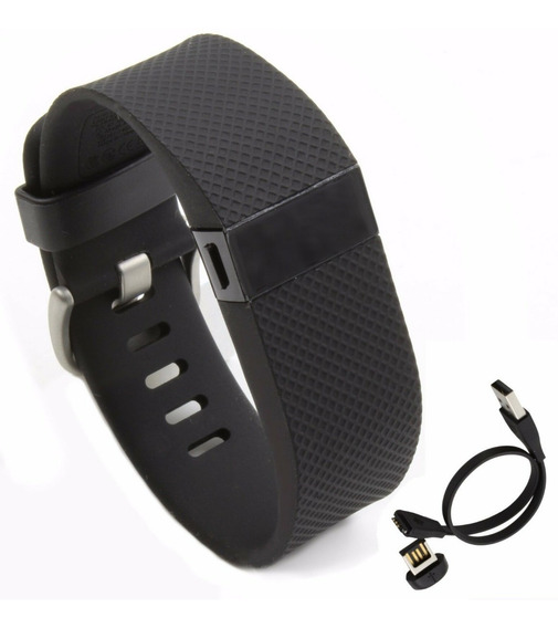 Pulseira Relogio Inteligente New Fitbit Charge Hr Wireless Activity & Heart Rate + Sleep Wristband Black