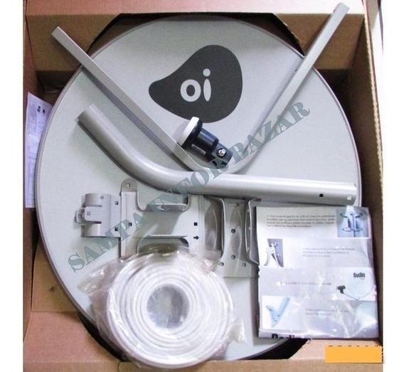 Kit Oi Tv 60cm C/ Lnb Duplo 20m Cabo E Conector