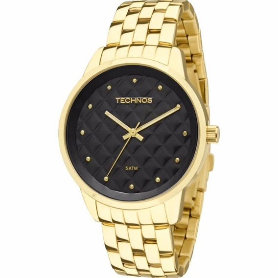 Relógio Technos Feminino Dourado Trend 2035lwm/4p