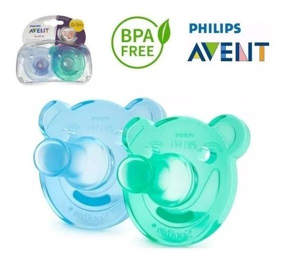 Chupeta Calmante Soothie Philips Avent Azul 0 Mes+ Bpa Free