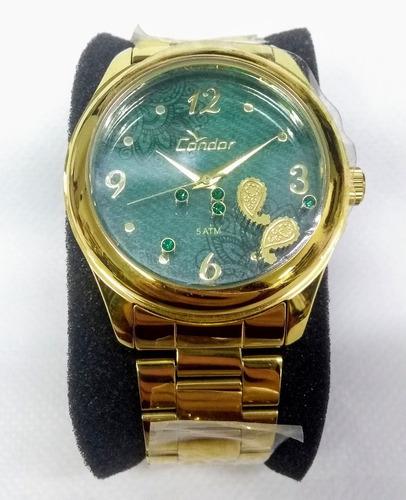 Relógio Feminino Condor Co2039ad/4v Visor C/ Enfeite Vltrine