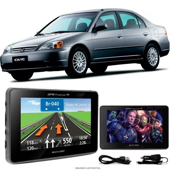 Navegador Gps Automotivo Honda Civic Tela 4.3 Touch Voz