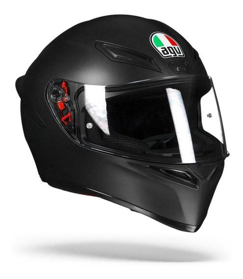 Casco Motociclismo Agv K-1, Talla Xl, Negro Mate, Nuevo
