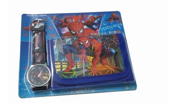 Relógio Infantil, Carteira Do Homem Aranha
