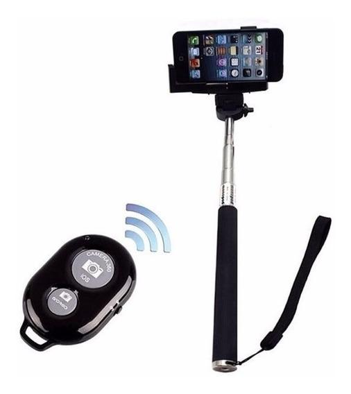Kit Bastão Celular Selfie Monopod + Controle Bluetooth Fotos