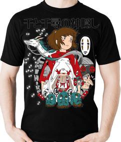 Camiseta A Viagem De Chihiro Estudios Ghibli Camisa Blusa