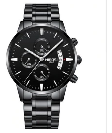 Relógios Masculinos Luxo Nibosi Dourado Preto Top Excelente
