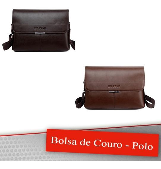 Bolsa De Couro Pu Masculina Polo
