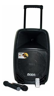 Bafle Potenciado Moon Batt12u 400w Batería Usb Bluetooth Mic