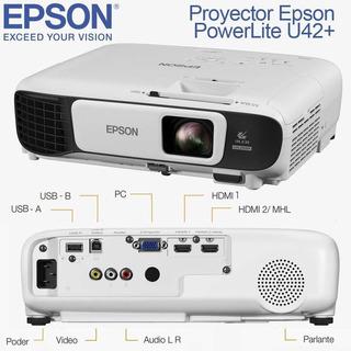 Proyector Epson Powerlite U42+wifi Wuxga 3600 Lum